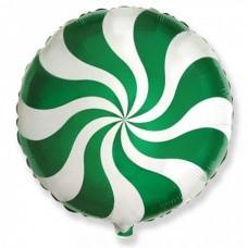 "18"" (45см ) Шар конфета зеленая/fm"