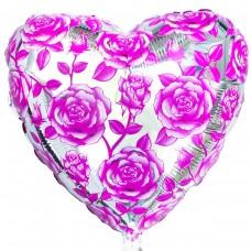 """18"""" (45см) троянди рожеві (fm Іспанія)"""