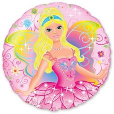 """18"""" (45см) фея на розовом круге/fm Испания"""