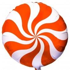 "18 ""(45см) куля цукерка помаранчева / fm"