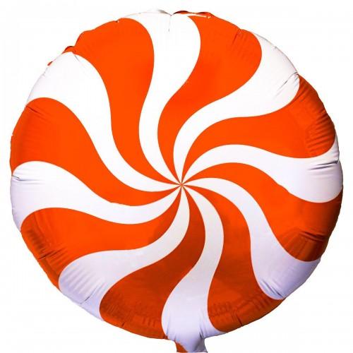 """18""""(45см) шар конфета оранжевая/fm"""