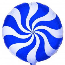 "18 ""(45см) Куля цукерка синя / fm"