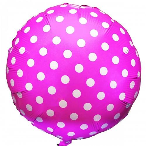 """18"""" (45см) горошек на розовом/fm"""