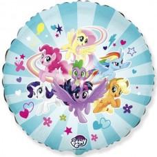 """18"""" (45см ) круг фольгированный пони команда (fm Испания)"""