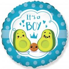 """18 """"(45см) коло фольговане Авокадо хлопчик (fm Іспанія)"""