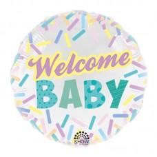 """SH 18"""" (45см) фольгированный шар Welcome BABY"""