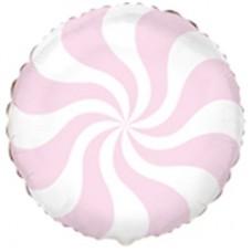"""18 """"(45см) Куля цукерка пастель рожева / fm"""