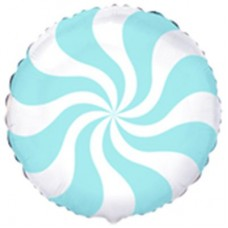 """18 """"(45см) Куля цукерка пастель блакитна / fm"""