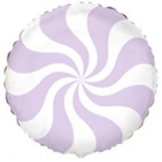 "18 ""(45см) Куля цукерка пастель лілова / fm"