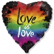 """18 """"(45см) серце фольговане Love is love (fm Іспанія)"""