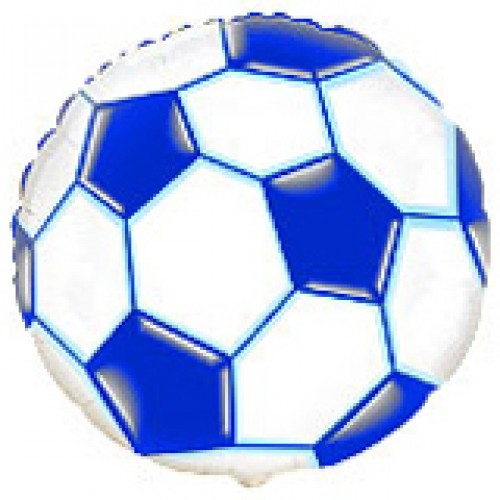 """18"""" (45см) футбольный мяч синий/fm Испания"""