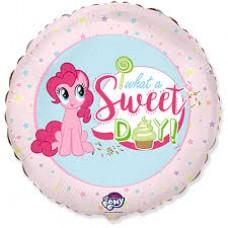 """18"""" (45см ) круг фольгированный пони sweet day (fm Испания)"""