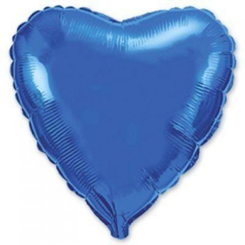 """18"""" (45см) фольгированный шар СЕРДЦЕ синее (FM Испания)"""
