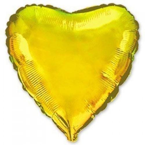 """18"""" (45см) сердце золотое"""