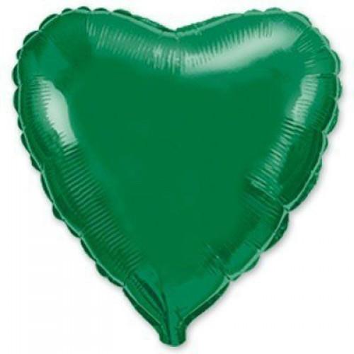 """18"""" (45см) сердце зеленое"""