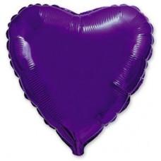 """18"""" (45см) сердце фиолетовое"""