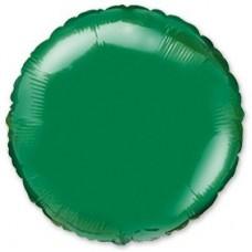 """18"""" (45см) фольгированный шар КРУГ зеленый (FM Испания)"""