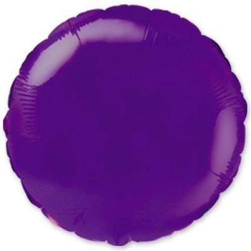"""18"""" (45см) фольгированный шар КРУГ фиолетовый (FM Испания)"""