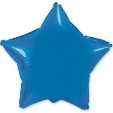 """18"""" (45см) фольгированный шар ЗВЕЗДА синяя (FM Испания)"""