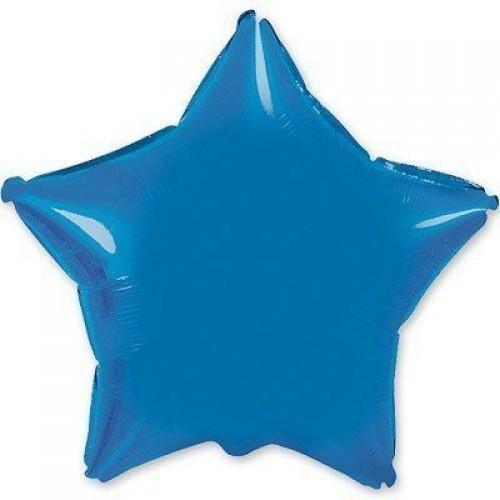 """4""""(10см) фольгированный шар ЗВЕЗДА синяя (FM Испания)"""