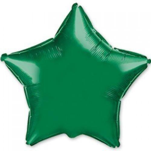 """18"""" (45см) фольгированный шар ЗВЕЗДА зеленая (FM Испания)"""