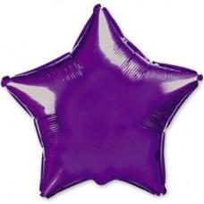"""18"""" (45см) звезда фиолетовая"""