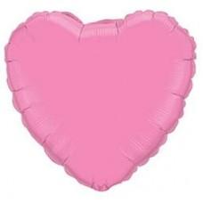 """18"""" (45см) сердце пастель розовое"""