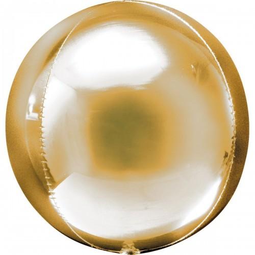 """AN 3d сфера б/рис 16"""" металлик gold"""
