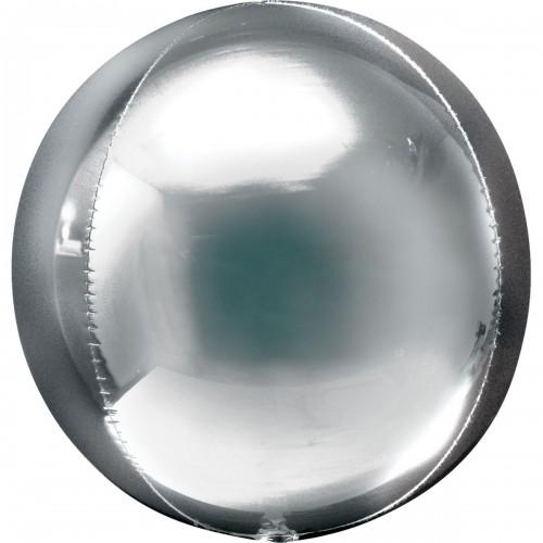 """AN 3d сфера б/рис 16"""" металлик silver"""