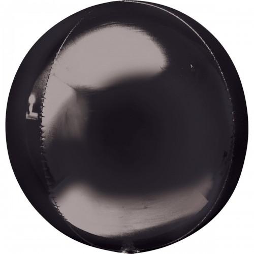 """3d сфера б/рис 16""""(40см) металлик black КИТАЙ"""