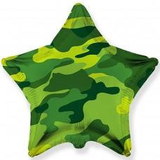 """18"""" (45см ) звезда фольгированная милитари (fm Испания)"""