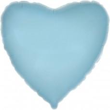 """18"""" (45см) сердце пастель голубое"""