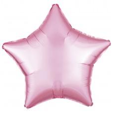 """18"""" (45см) фольгированный шар ЗВЕЗДА пастель розовая (FM Испания)"""
