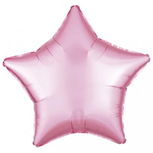 """18 """"(45см) фольгована кулька ЗІРКА пастель рожева (FM Іспанія)"""