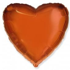 """18"""" (45см) сердце оранжевое"""