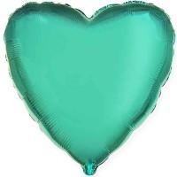 "18"" (45см) сердце бирюзовое"