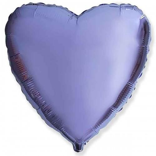 """18"""" (45см) сердце лиловое"""