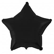 """18"""" (45см) звезда пастель черная"""