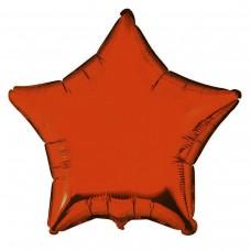 """18"""" (45см) фольгированный шар ЗВЕЗДА оранжевая (FM Испания)"""