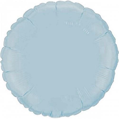 """18"""" (45см) фольгированный шар КРУГ пастель голубой (FM Испания)"""