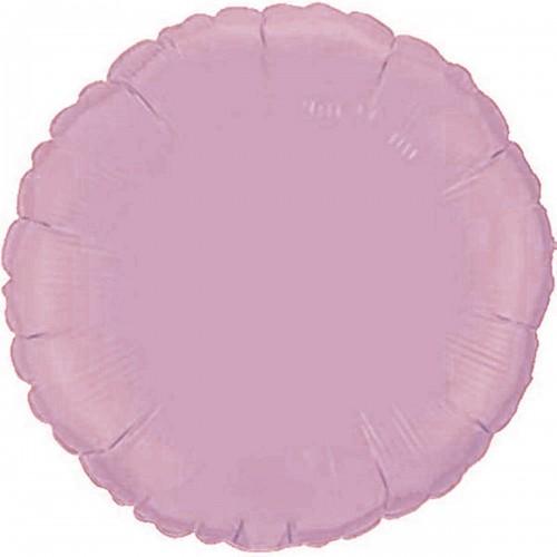"""18"""" (45см) фольгированный шар КРУГ пастель розовый (FM Испания)"""