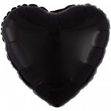 """AN 18"""" (45см) серце пастель чорне"""