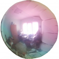 """18"""" (45см) фольгированный круг омбре металлик жемчуг"""