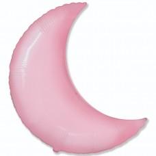 """32"""" (81см) фольгированный шар МЕСЯЦ розовый (FM Испания)"""