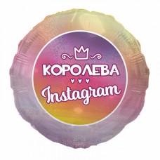 "SH 18"" (45см) Фольгована куля Королева Instagram"