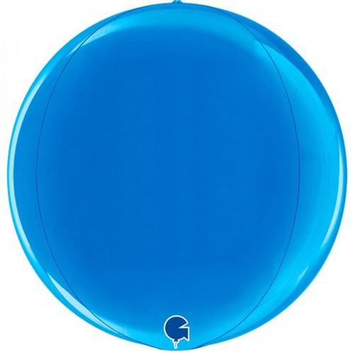 "3d сфера 15"" (38см) металлик синий (Grabo)"