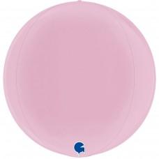 """3d сфера 15"""" (38см) пастель розовый (Grabo)"""