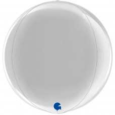 "3d сфера 15"" (38см) металлик серебро (Grabo)"