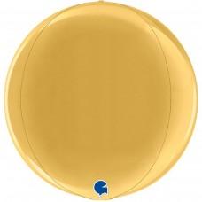 "3d сфера 15"" (38см) металлик золото (Grabo)"