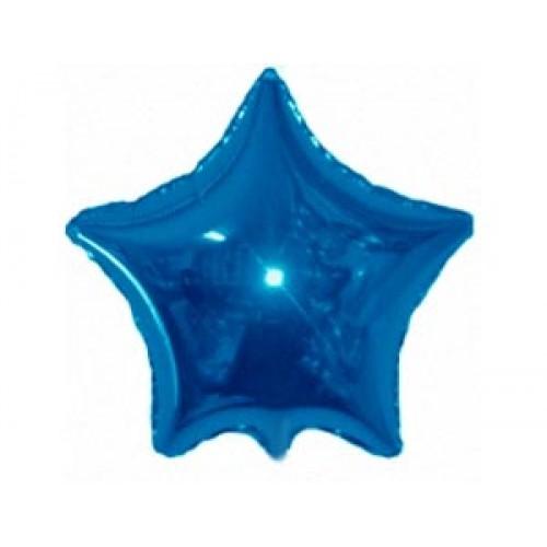 """9 """"(23см) фольгована куля ЗІРКА синя (FM Іспанія)"""